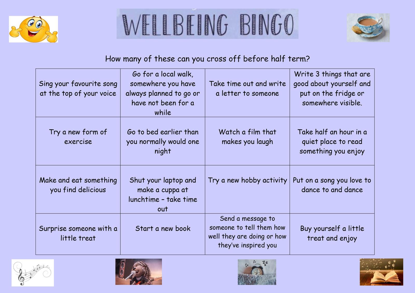 Wellbeing Bingo Feb21